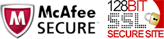 McAfee Secure 128 bit SSL